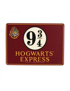 Placa Metálica Hogwarts Express Pequeña - Harry Potter
