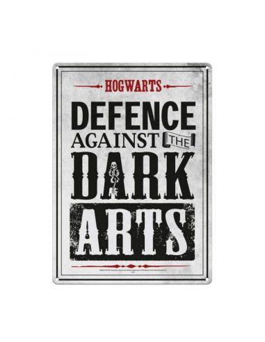 Placa Metálica Defensa de las Artes Oscuras - Harry Potter