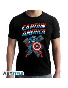 Camiseta Capitán América Vintage - Marvel