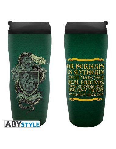 Taza de viaje Escudo Slytherin- Harry Potter
