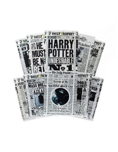 Lote 20 postales The Daily Prophet - Harry Potter