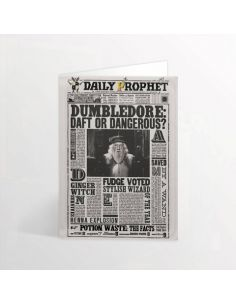 Tarjeta lenticular Dumbledore The Daily Prophet - Harry Potter