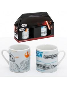 Pack 2 tazas expresso BB-8 & Halcón - Star Wars