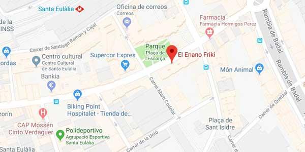 Mapa donde está  El Enano Frik